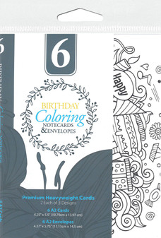 Leisure Arts Coloring Cards & Envelopes Birthday
