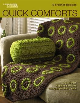 Leisure Arts Quick Comforts 9 Crochet Designs Book