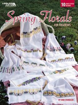 Leisure Arts Spring Florals For Fingertips Book
