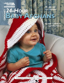 Leisure Arts Crochet 24-Hour Baby Afghans Book