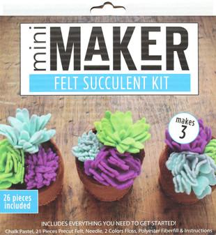 Leisure Arts Kit Mini Maker Felt Succulent Blue