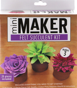 Leisure Arts Kit Mini Maker Felt Succulent Multi