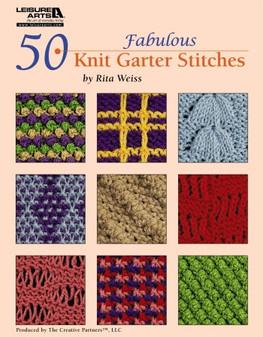 Leisure Arts 50 Fabulous Knit Garter Stitches Book