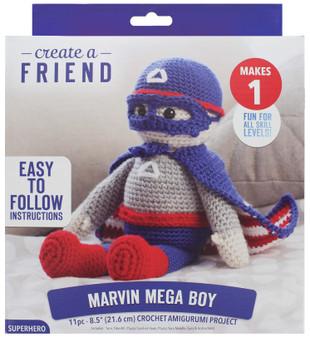 Leisure Arts Kit Create A Friend Crochet Amigurumi Marvin Mega Boy