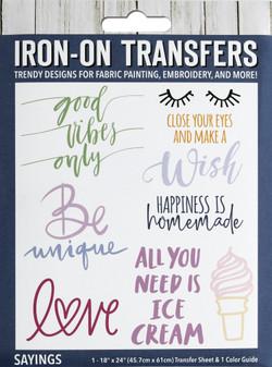 Leisure Arts Iron-On Transfer Sayings