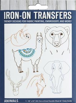 Leisure Arts Iron-On Transfer Animals