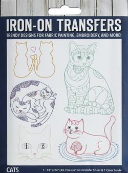 Leisure Arts Iron-On Transfer Cats