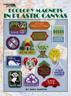 Leisure Arts Ecology Magnets In Plastic Canvas Book
