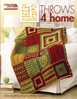 Leisure Arts Hip 2B Square Throws 4 Home Crochet Book