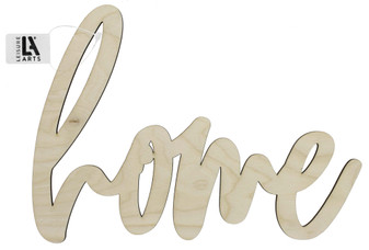"""Leisure Arts Wood Word Large 12.25""""x 9"""" Home"""