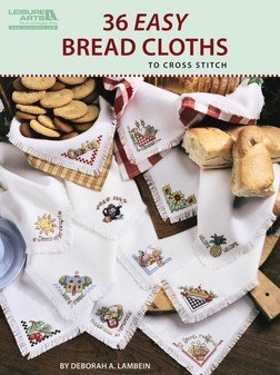 Leisure Arts 36 Easy Bread Cloths To Cross Stitch Book
