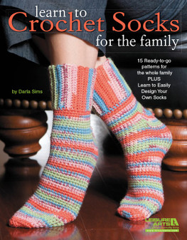 Leisure Arts Learn To Crochet Socks For The Family Book