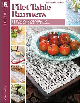 Leisure Arts Filet Table Runners Crochet Book