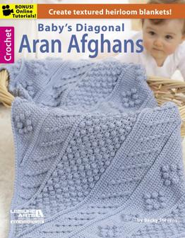 Leisure Arts Baby's Diagonal Aran Afghns Book