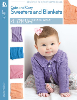 Leisure Arts Cute & Cozy Sweaters And Blankets Knit Book