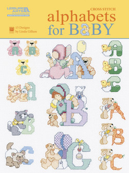 Leisure Arts Alphabets For Baby Cross Stitch Book