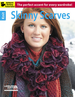 Leisure Arts Skinny Scarves Knit Book