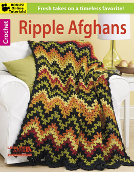Leisure Arts Crochet Ripple Afghans Book