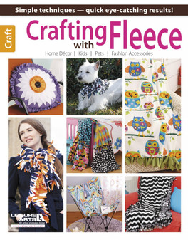 Leisure Arts Crafting With Fleece Book