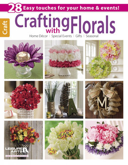 Leisure Arts Crafting With Florals Book
