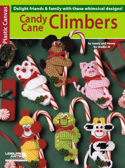 Leisure Arts Plastic Canvas Candy Cane Climbers Book