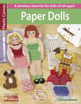 Leisure Arts Paper Dolls Plastic Canvas Book