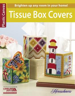 Leisure Arts Tissue Box Covers Plastic Canvas Book