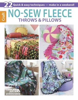 Leisure Arts No Sew Fleece Throws & Pillows Book