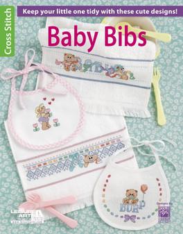 Leisure Arts Baby Bibs Cross Stitch Book