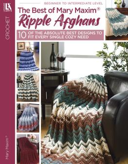 Leisure Arts Best Of Mary Maxim Ripple Afghans Crochet Book