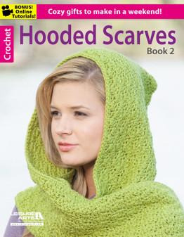 Leisure Arts Hooded Scarves #2 Crochet Book