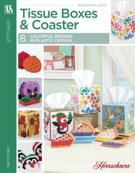 Leisure Arts Tissue Boxes & Coasters Plastic Canvas Book