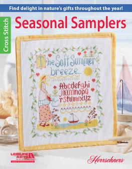 Leisure Arts Seasonal Samplers Cross Stitch Book