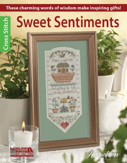 Leisure Arts Herrschners Cross Stitch Sweet Sentiments Book