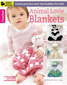 Leisure Arts Animal Lovie Blankets Crochet Book