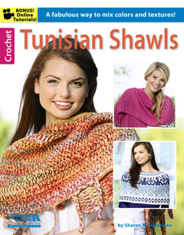Leisure Arts Crochet Tunisian Shawls Book