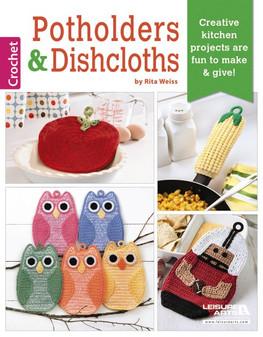 Leisure Arts Crochet Potholders & Dishcloths Book