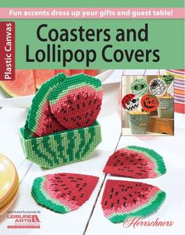 Leisure Arts Coasters & Lollipop Covers Plastic Canvas Book
