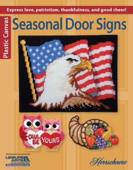 Leisure Arts Seasonal Door Signs Plastic Canvas Book