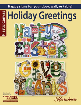 Leisure Arts Holiday Greetings Plastic Canvas Book