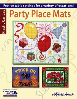 Leisure Arts Party Place Mats Plastic Canvas Book