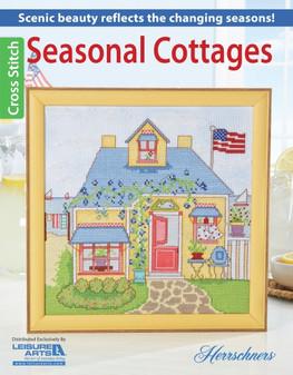 Leisure Arts Herrschners Seasonal Cottages Cross Stitch Book