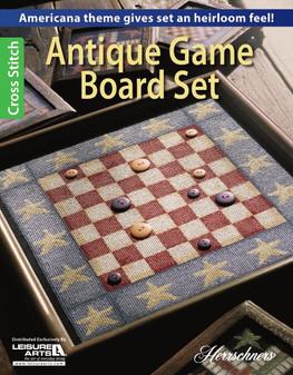 Leisure Arts Antique Game Board Set Cross Stitch Book