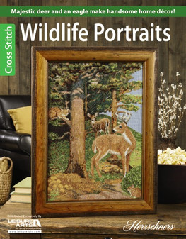 Leisure Arts Cross Stitch Wildlife Portraits Book