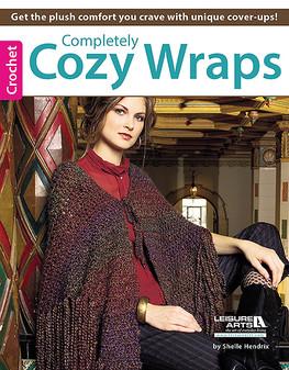 Leisure Arts Completely Cozy Wraps Crochet Book