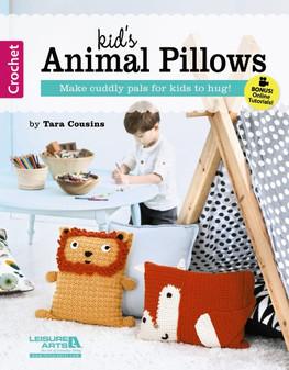 Leisure Arts Kid's Animal Pillows Crochet Book