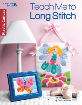 Leisure Arts Teach Me To Long Stitch Plastic Canvas Book