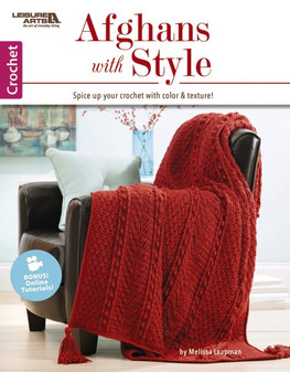 Leisure Arts Crochet Afghans With Style Book