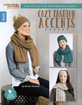 Leisure Arts Cozy Fashion Accents Knit Book