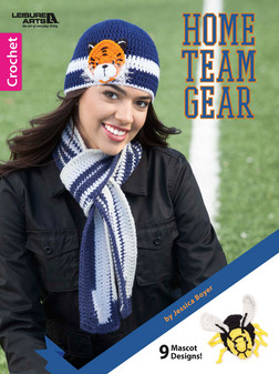 Leisure Arts Home Team Gear Crochet Book